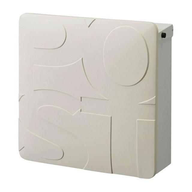 オンリーワン 郵便ポスト マルカート ボールド TC1-BD3WH パネル/ホワイト色×ボックス/ホワイト色