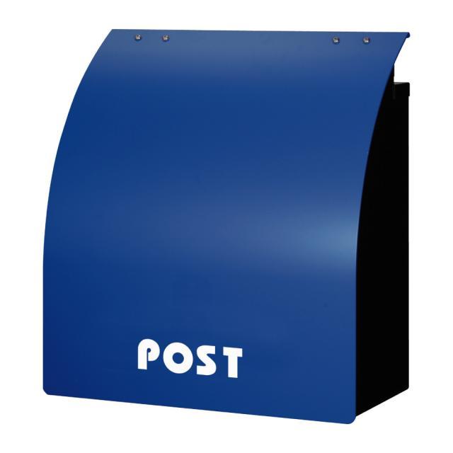 丸三タカギ ポップなカラーと丸み ウィングポスト マリンブルー色 W-1-N