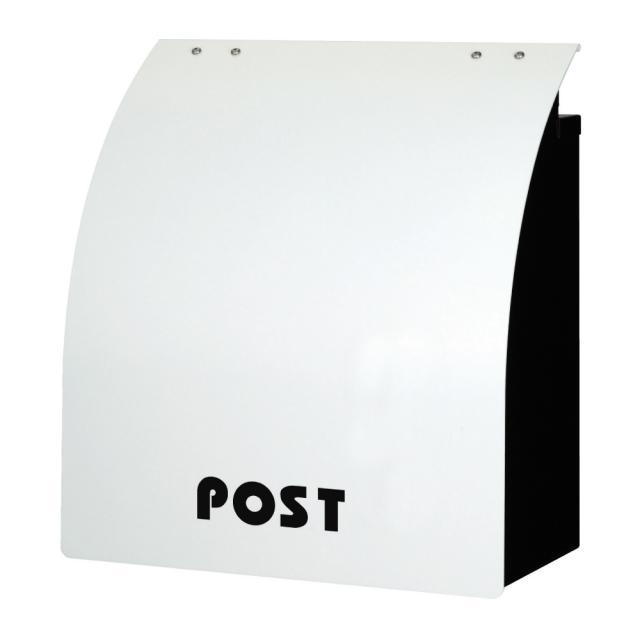 丸三タカギ ポップなカラーと丸み ウィングポスト ホワイト色 W-2-N