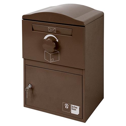 英国発のオシャレな戸建用宅配ボックス brizebox(ブライズボックス) スタンダードサイズ ショコラ