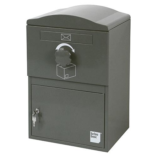 英国発のオシャレな戸建用宅配ボックス brizebox(ブライズボックス) スタンダードサイズ グレー