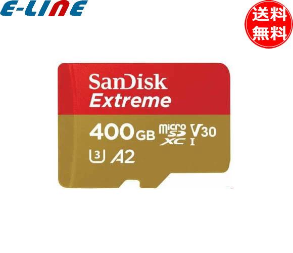 サンディスク エクストリーム microSDXC UHS-I 400GB(SDSQXAF-0400G-JN3MD) アクションカメラとドローンにも最適 最大書込み速度90MB/秒 レスキュープロデラックスソフトウェアで簡単にファイルを復元 極限の環境下で使える耐久性 「送料無料」「smtb-F」