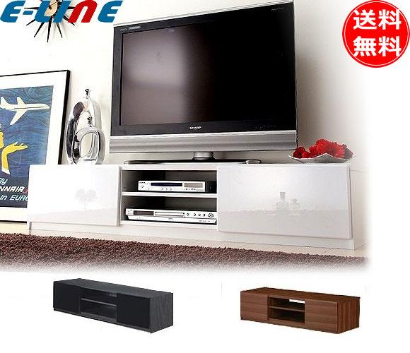 鏡面 木目 背面収納TVボード ROBIN(ロビン)幅150cm(各色)キャスター付「M0600002」「代引不可」「送料無料」「smtb-F」