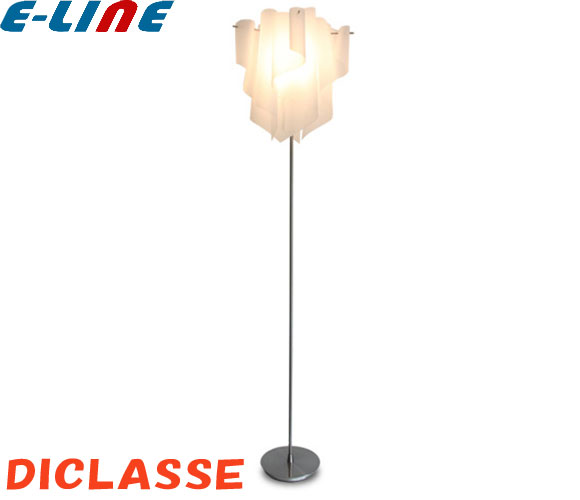 DI CLASSE ディクラッセ Auro白い アウロホワイト フロアランプ LF4200WH 60Wクリア球付「送料区分E」