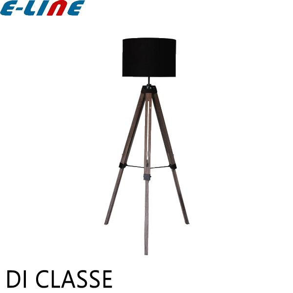 DI CLASSE ディクラッセ LF4467BK Black Vieri nova Floor lamp ビエリノバ イーゼルをモチーフとしたフロアランプ 光が上下に広がりお部屋の天井や壁に立体感と奥行きが ブラックコード フットスイッチ付 高さ調節可「送料区分B」