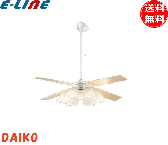 DAIKO ダイコー 大光電機 DP-38028+DP-37974+DP-37587(ホワイト/ホワイトウッド)LEDシーリングファンライト 延長用パイプセット(60cmタイプ)6畳用 LED電球(白熱灯60W相当×6灯タイプ)「DP38028」「DP37974」「DP37587」「setsuden_led」「smtb-F」「送料無料」
