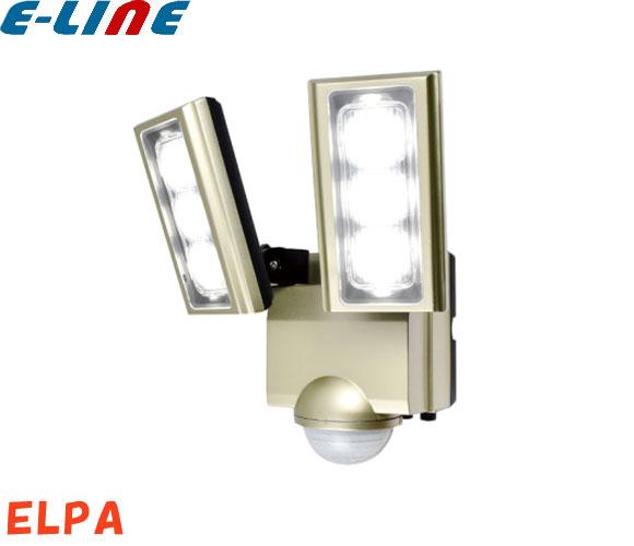 ELPA ESL-ST1202AC ソーラー発電式 LEDセンサーライト 2灯 白色/ソーラー式 防雨センサーライト電気代不要 センサーが人や車の動きを検知して自動点灯 低赤外線・低UVで発熱が少なく虫も集まりにくい光 「setsuden_led」「送料区分C」