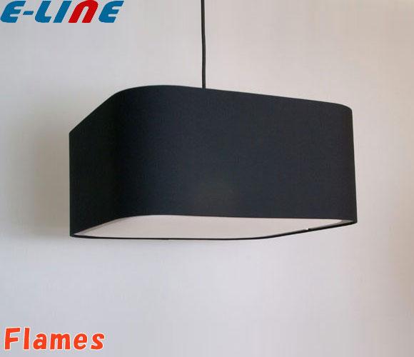 Flames フレイムス GDP-041-1B(ブラック)URBAN アーバン 3灯ペンダントライト 綿ブロード布シェード 電球型蛍光ランプ「GDP0411B」「送料区分C」