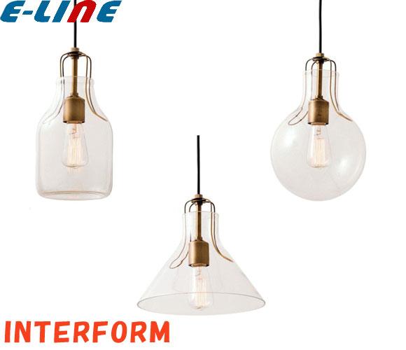 インターフォルム Olite オリテ ペンダントライト LT-1610BO LT-1610RO LT-1610TR 電球なし 口金E26 電球オプションにて追加可能「LT1610BO」「LT1610RO」「LT1610TR」「送料区分B」