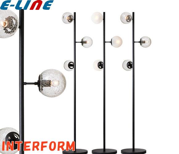 インターフォルム Lulublanc ルルブラン フロアランプ フロアライト LT-2329FR LT-2329CR LT-2329BU クリアミニ球付 60W×3灯「LT2329」「送料区分E」