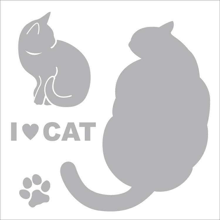 敬老の日 2021 送料無料 車 シール ステッカー 13cm 猫グッズ 日本最大級の品揃え 対象外 名入れ ペット 転写 親子2デザイン シルバーシルエット 奉呈