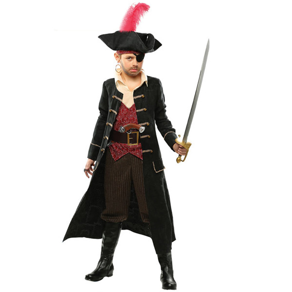 【サイズ有S/M/L/XL】ハロウィン 仮装 海賊 衣装 ハロウィン 子供 6点セット コスプレ コスチューム 仮装 コスプレ衣装 パーティー eb779c0c0w5/代引不可