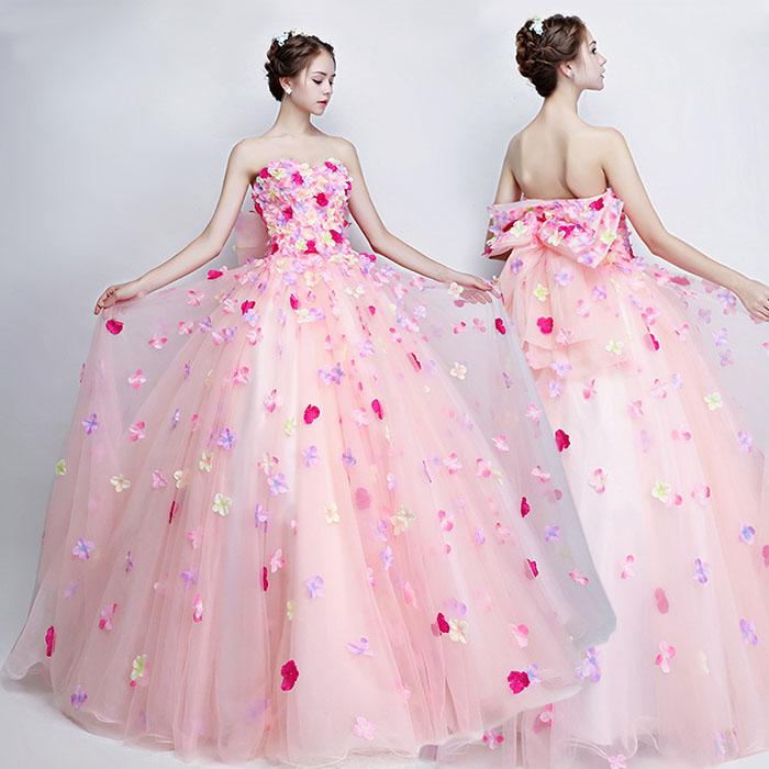 e8116712d8863 ... ウェディングドレス ロングドレス カラードレス 花嫁ドレス 編み上げタイプ 妊娠ドレス 大量注文にも ...