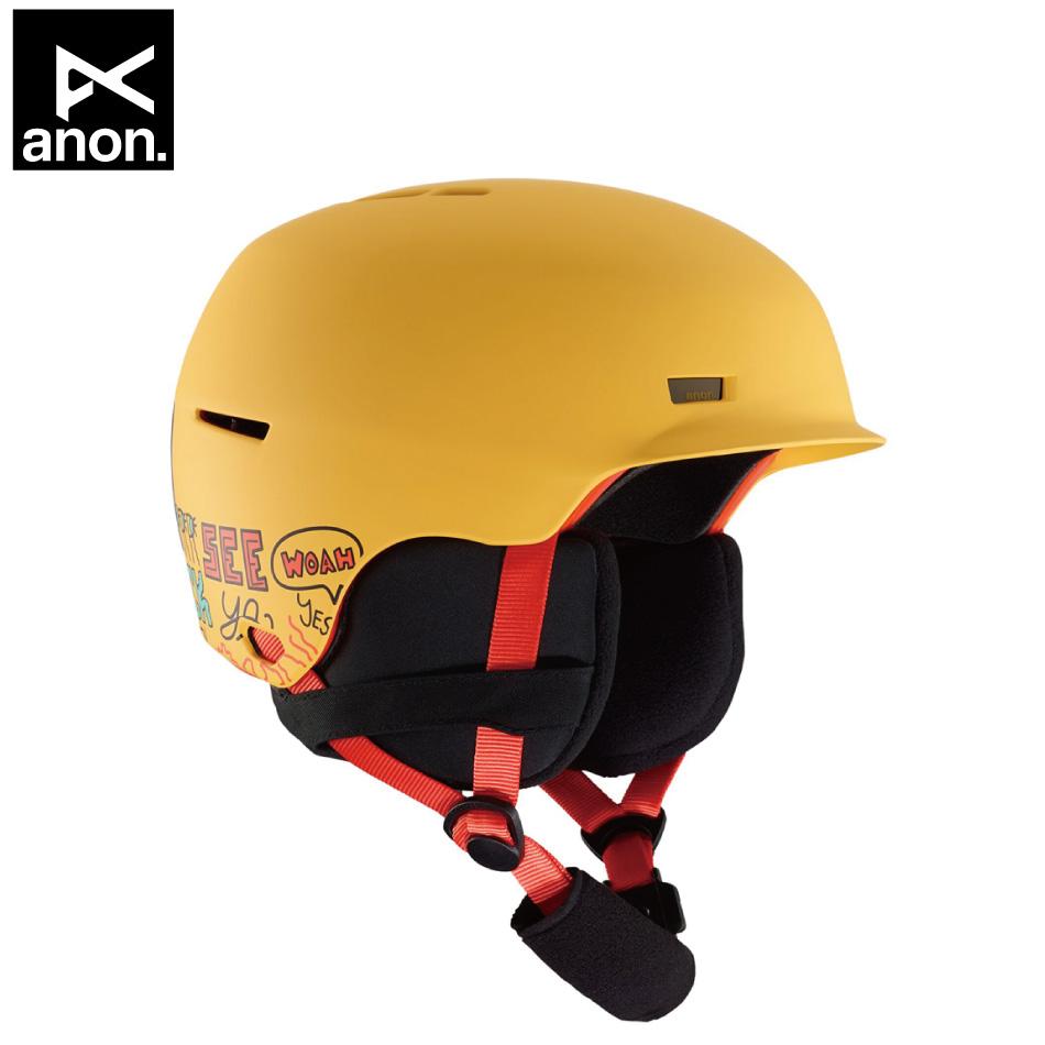 即納OK 20 ANON Helmet Flash PizzaYellow (K・Y) アノン フラッシュ ベースボードキャップ型 19-20 20Snow 正規品