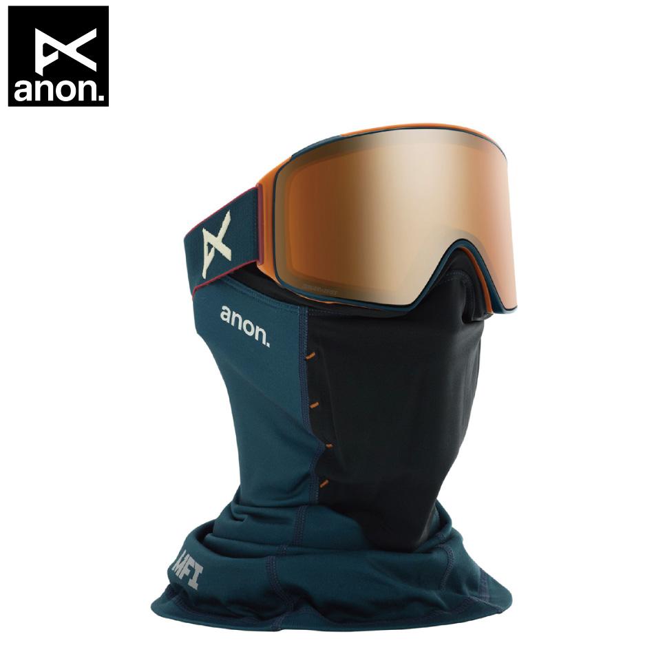 即納OK 20 ANON Goggle M4 Cylindrical Royal/SonerBronze アノン エムフォー シリンダー 平面レンズ アジアンフィット 19-20 20Snow 正規品