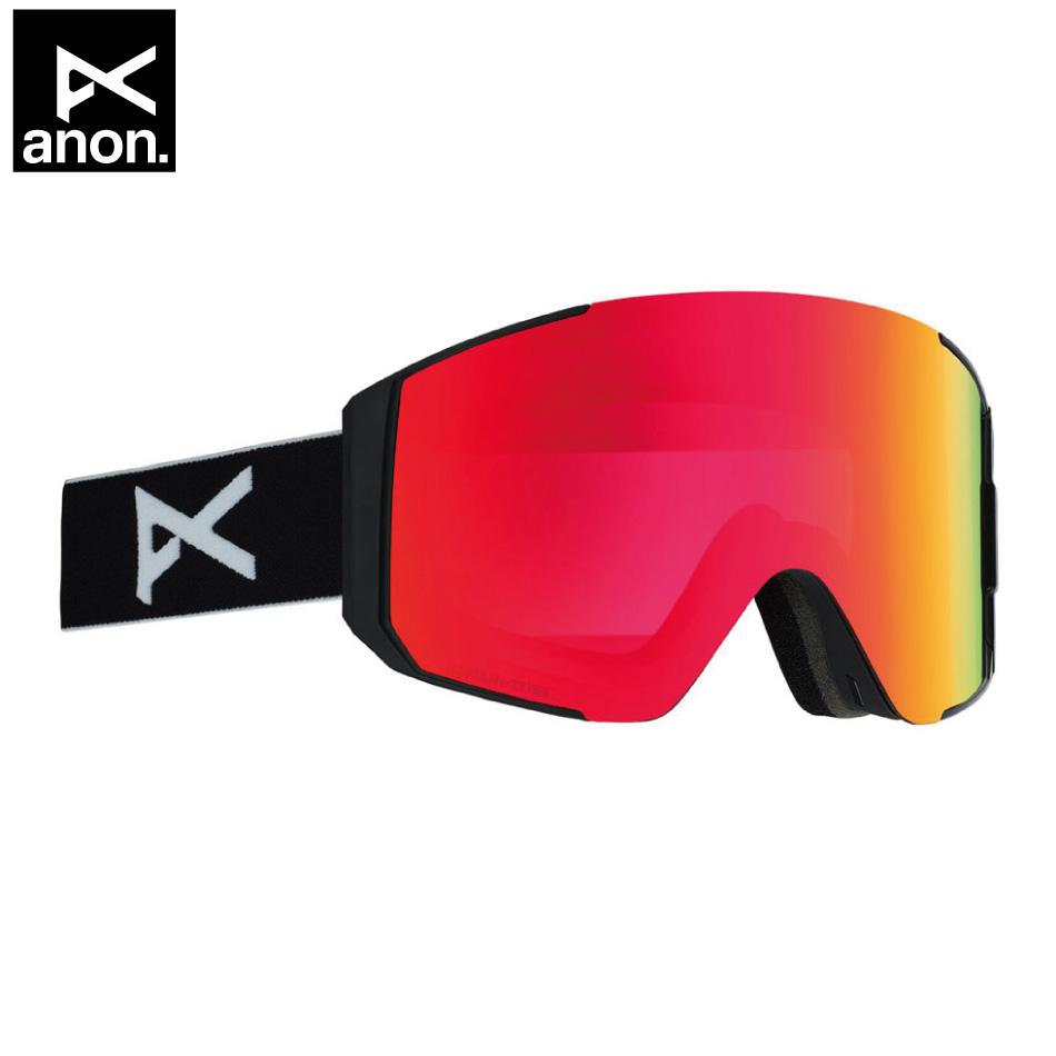 即納OK 20 ANON Goggle Sync Blackp/SonerRed アノン シンク 平面レンズ アジアンフィット 19-20 20Snow 正規品