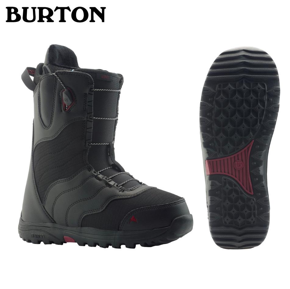 即納OK 20 BURTON MINT Boots (W) Black ブーツ バートン ミント ブーツ アジアンフィット メッシュバック付 レディース 正規品