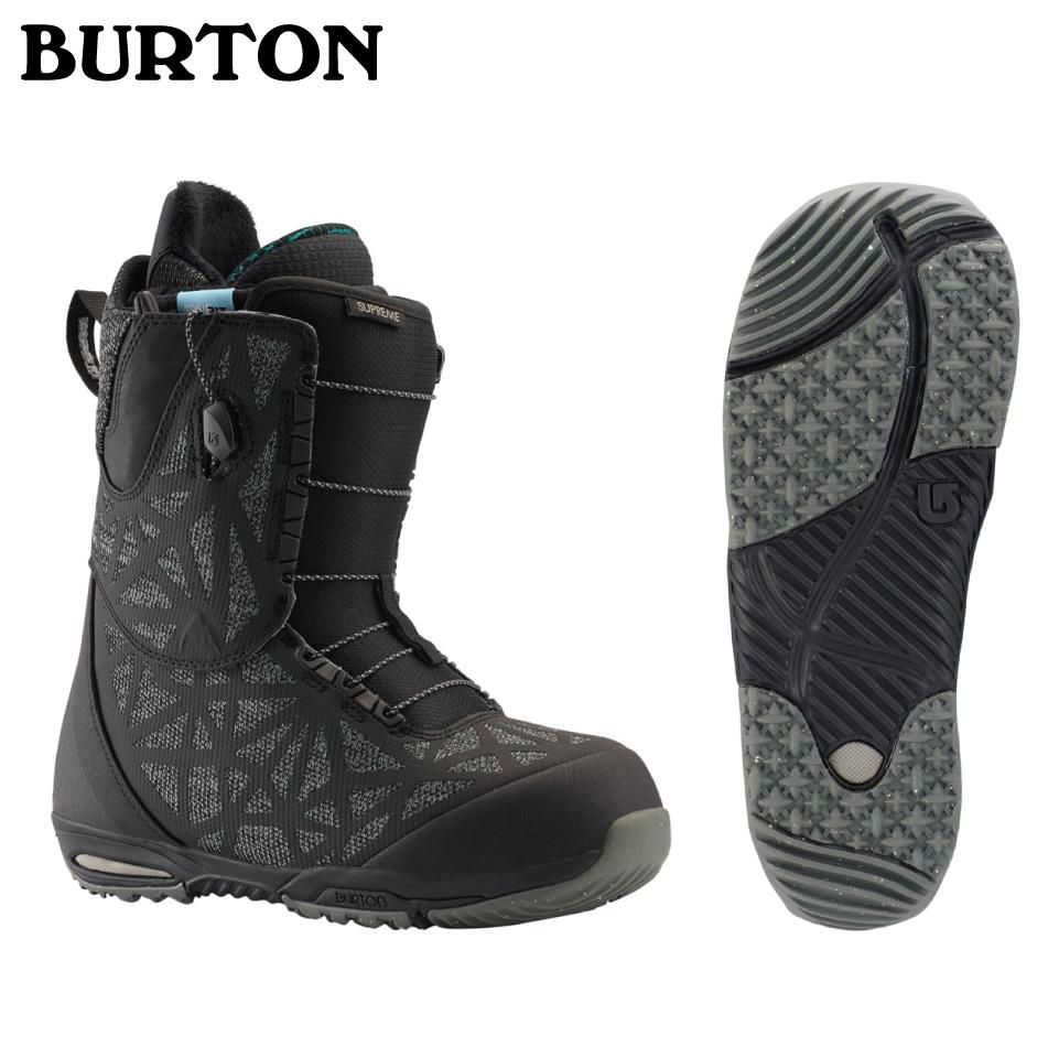 即納OK 20 BURTON SUPREME Boots (W) WideFit Black ブーツ バートン サプリ―ム ブーツ ワイドフィットメッシュバック付 レディース 正規品