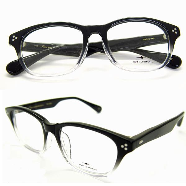 メガネ 度付き HOYA1.60非球面 又は HOYA1.60非球面ブルーカットレンズ付き メガネセット 送料無料トランス コンチネンタル 306 ブラック/クリア セルロイドフレーム HOYAレンズ付き