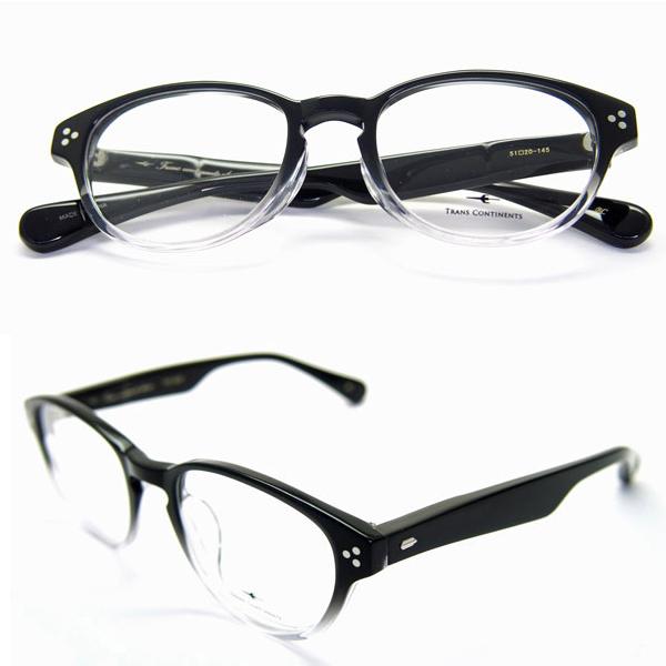 メガネ 眼鏡 メガネ 度付き メガネセット 送料無料 メガネセット トランス コンチネンタル 307 ブラック/クリア セルロイドフレーム メガネフレーム レンズセット HOYAレンズセット