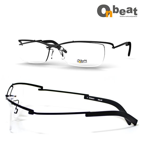 メガネ 眼鏡 1.60/1.67非球面度つきレンズセット Onbeat(オンビート) ONB_307-BK【送料無料】 メガネフレーム レンズセット