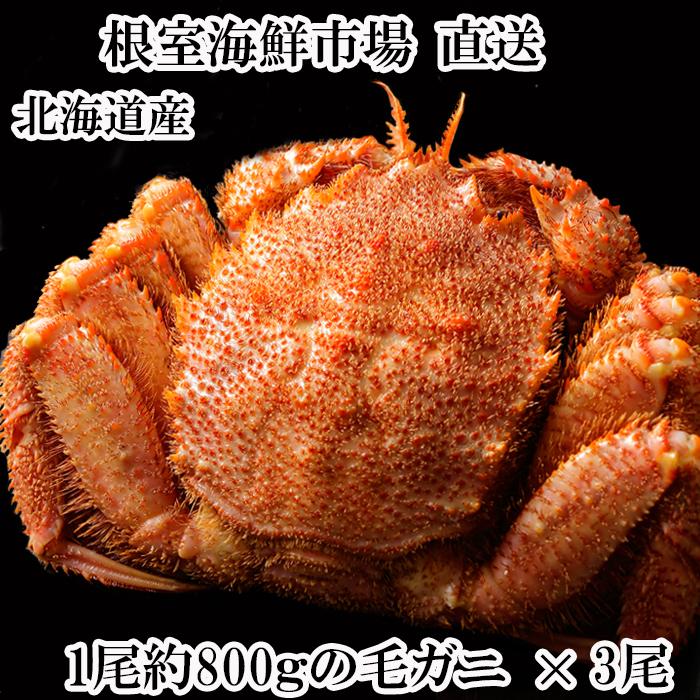 【ふるさと納税】ボイル毛がに約800g×3尾 D-11004
