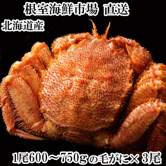 【ふるさと納税】ボイル毛がに600~750g×3尾 D-11010