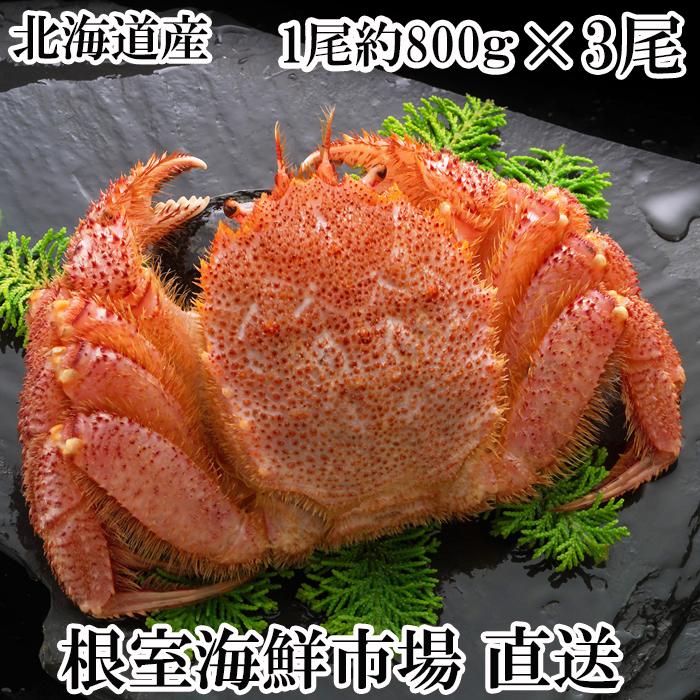 【ふるさと納税】ボイル毛がに約800g×3尾 D-14004