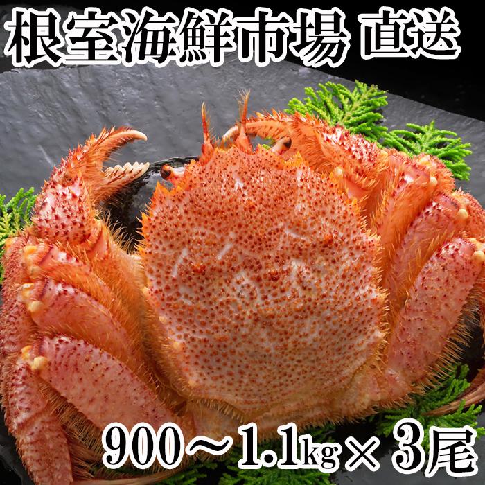【ふるさと納税】 ボイル毛がに900g~1.1kg×3尾 D-14015