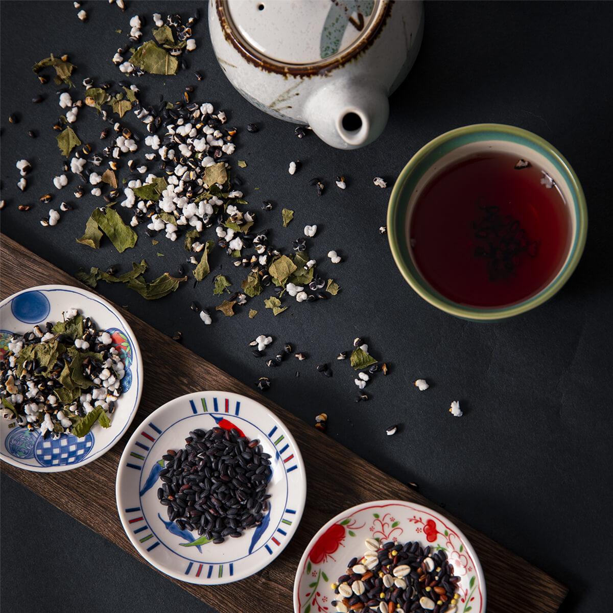 【ふるさと納税】黒米・黒米野草茶・薬膳五穀米のセット