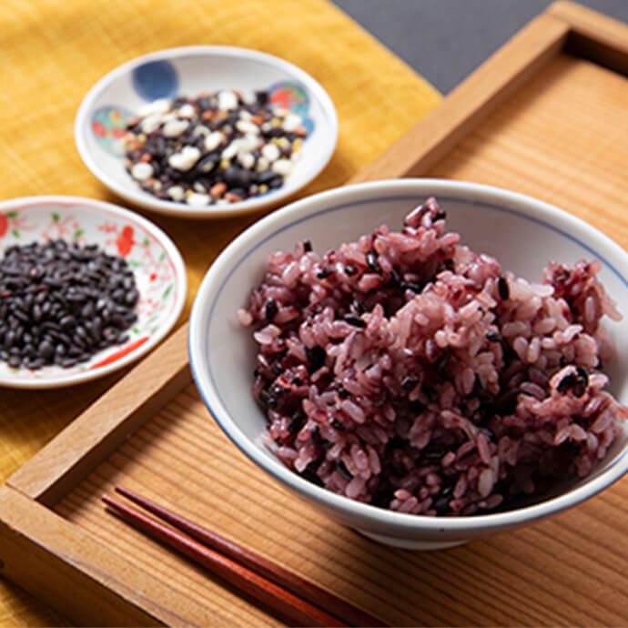 【ふるさと納税】黒米お赤飯・黒米・薬膳五穀米のセット