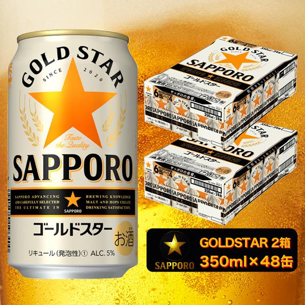 【ふるさと納税】a19-017 【サッポロビール】 ゴールドスター 350ml×48本