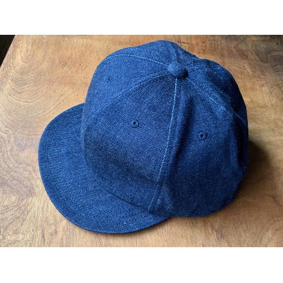 兵庫県明石市 ふるさと納税 ちょっと大きめデニムキャップ ネイビーステッチ 帽子 記念日 キャップ オンラインショッピング デニムキャップ ファッション小物