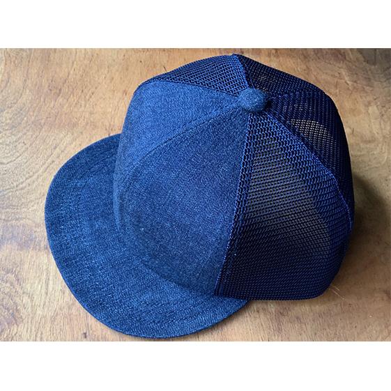 兵庫県明石市 ふるさと納税 ちょっと大きめデニムメッシュキャップ 新作入荷 ネイビーステッチ 帽子 ファッション小物 キャップ サービス デニムメッシュキャップ