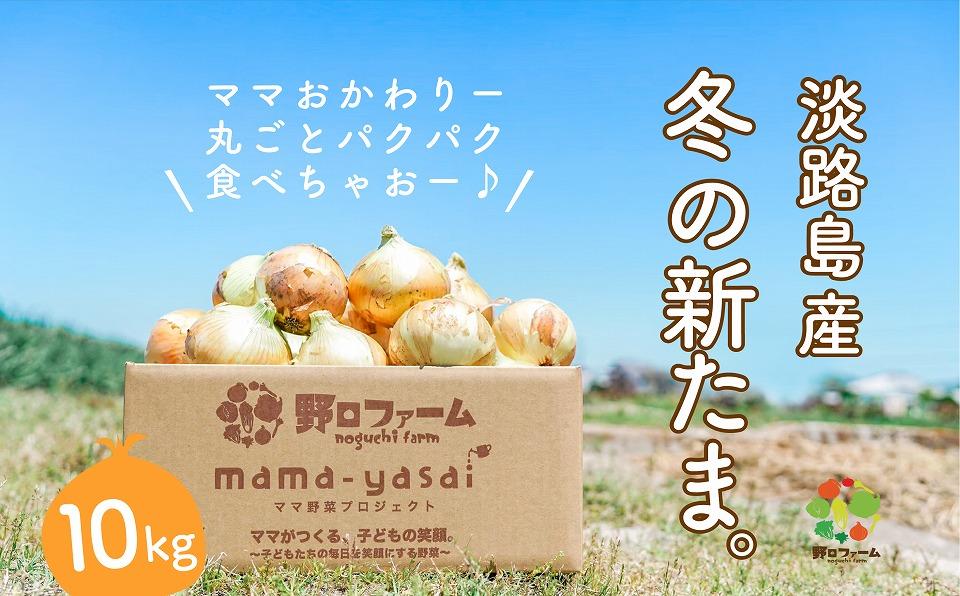 【ふるさと納税】淡路島野口ファームの冬の新たまねぎ 10kg