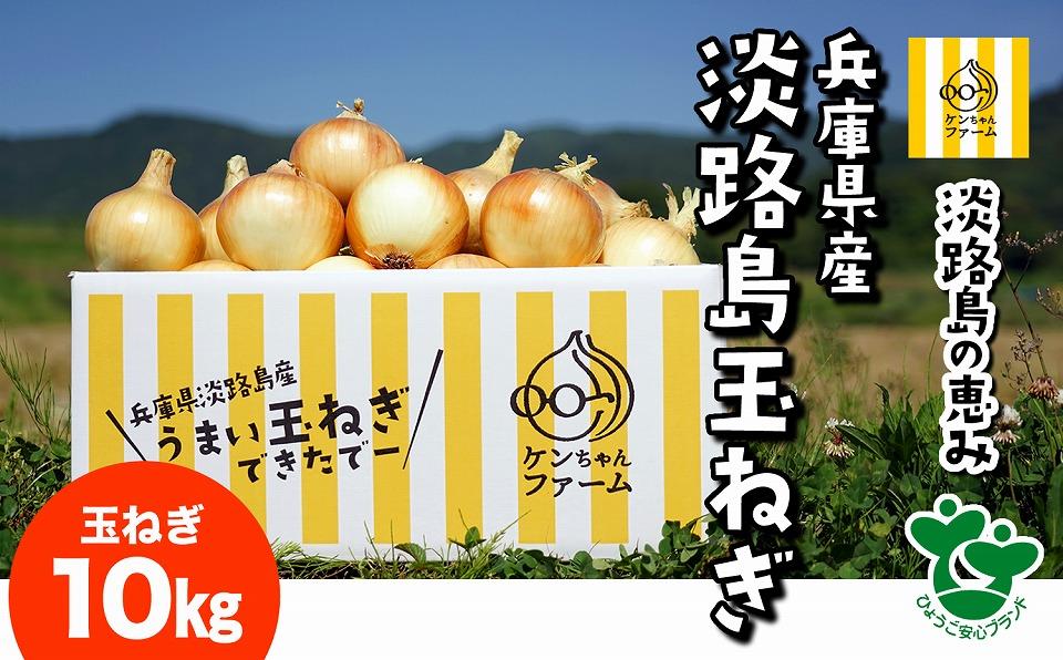 【ふるさと納税】\うまい玉ねぎできたでー/ケンちゃんファームの特別栽培玉ねぎ10kg~ひょうご安心ブランド認証取得~
