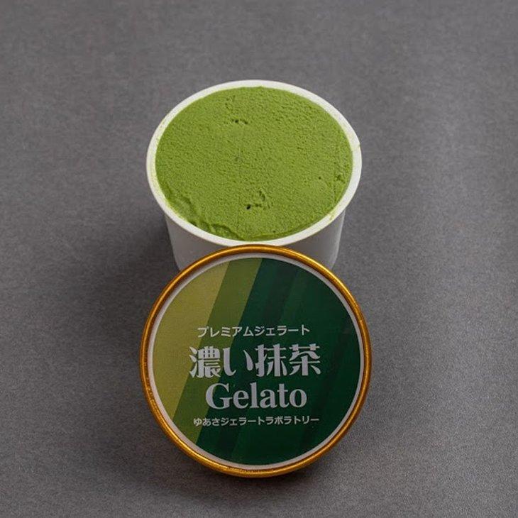 【ふるさと納税】プレミアムジェラート/抹茶12個セット/ゆあさジェラートラボラトリー