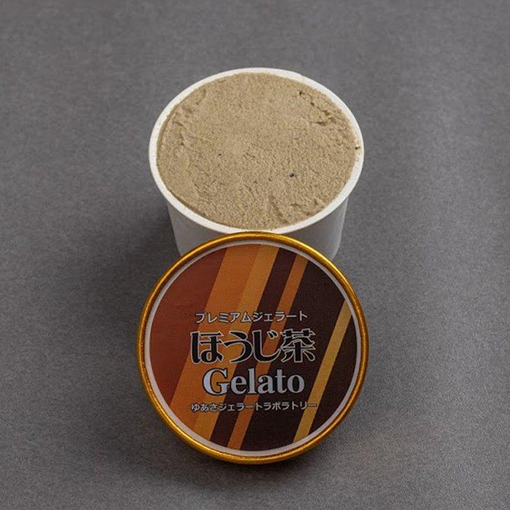 【ふるさと納税】プレミアムジェラート/ほうじ茶12個セット/ゆあさジェラートラボラトリー