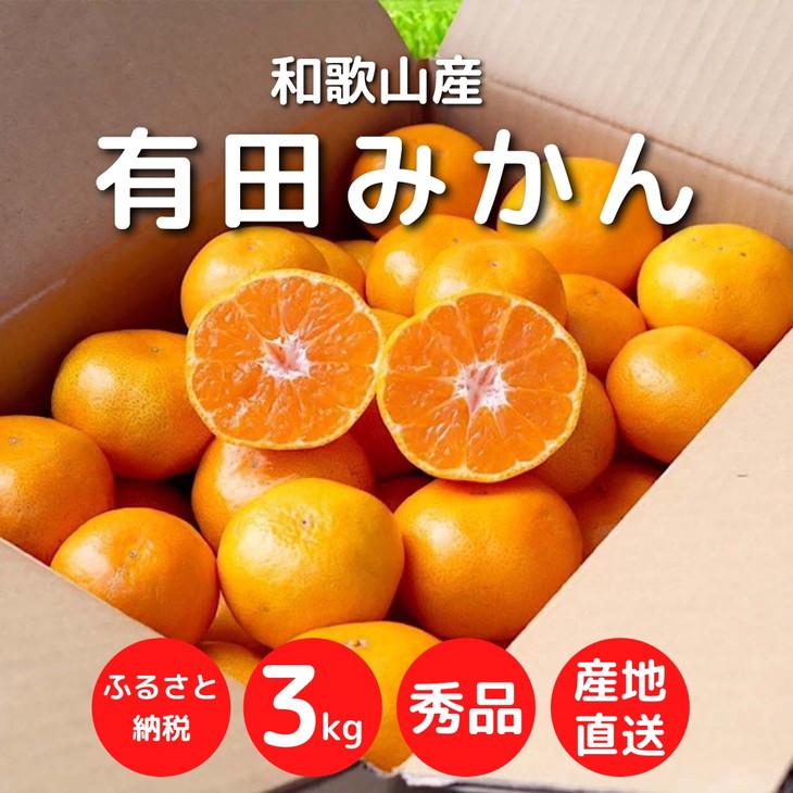 まごころ手選別「有田みかん」約3kg(2S~Lサイズ)