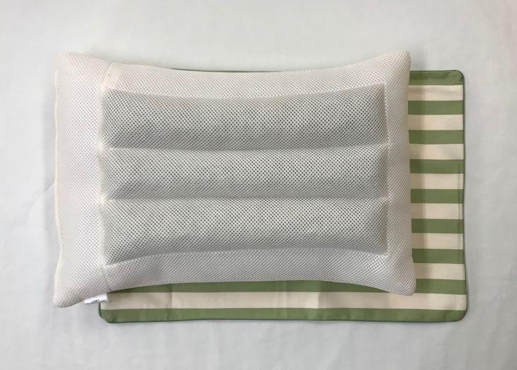 【ふるさと納税】日本製 茶殻リサイクル お茶まくら 枕カバー(グリーン)2枚付