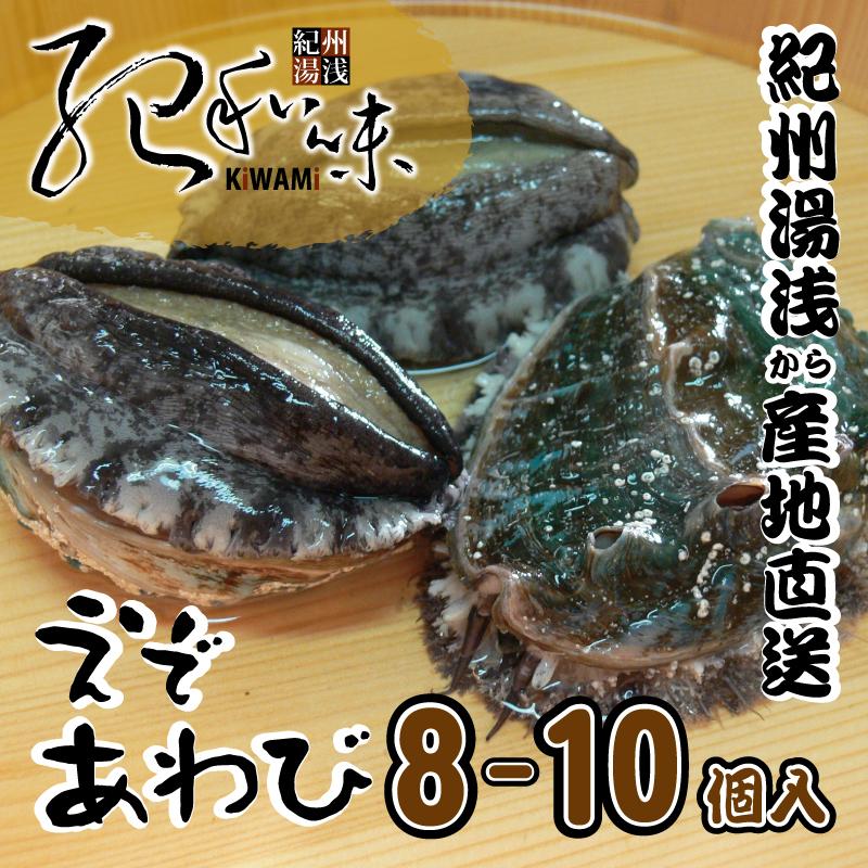 【ふるさと納税】■やわコリ食感紀州活アワビ 【8-10個入】