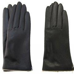 【ふるさと納税】手袋 羊革 レディース 黒・茶 【ファッション・小物】