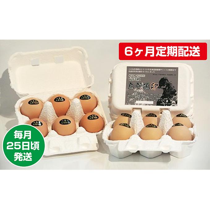 【ふるさと納税】【6ヶ月定期配送】烏骨鶏卵 毎月25日頃発送 【定期便・卵】