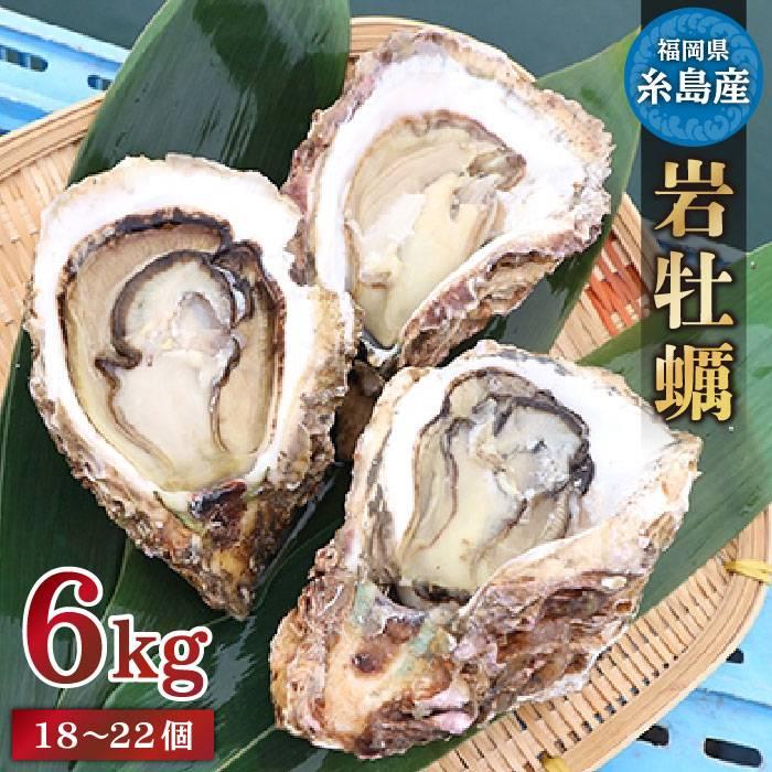 【ふるさと納税】糸島産特大岩牡蠣6kg(18~22個)かき カキ 牡蛎 濃厚 クリーミー[AKD009]