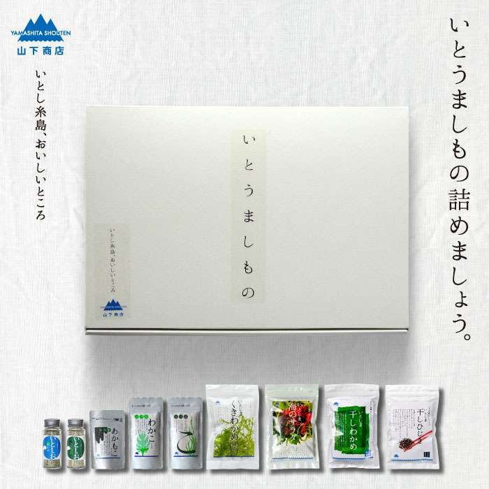 【ふるさと納税】お歳暮対象 糸島の乾物 海藻 いとうましもの(ギフト箱C)【山下商店】 MDL ANA014