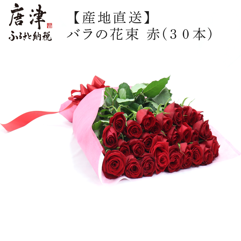 バラ専門農家が最高品質のものを厳選して 摘みたてのバラを産地直送でお届けします ふるさと納税 産地直送 30本 バラの花束 品質保証 予約 最高品質の薔薇を厳選 赤