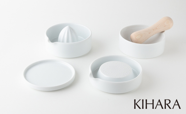 A20-105【ふるさと納税】KIHARA SITAKU(蓋・おろし器・レモン絞り・すり鉢・すり棒)