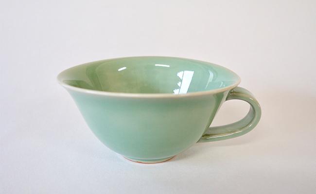 A15-70【ふるさと納税】茂正工房 翡翠スープカップ