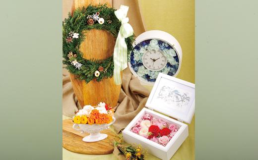 お歳暮 プリザーブドグリーンベースのナチュラルリース クリスマスには 低価格化 ふるさと納税 季節を問わず1年を通して飾れるナチュラルリース