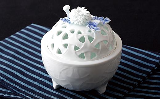 【ふるさと納税】平戸窯悦山 菊置きこまつなぎ香炉